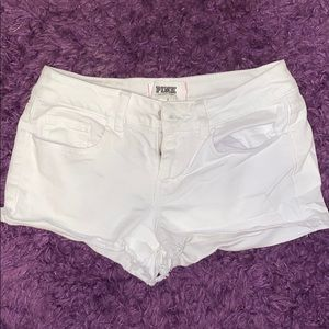 PINK Victoria's Secret White Jean Shorts